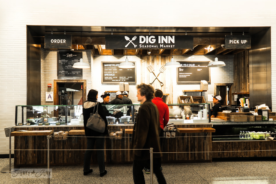 Dig Inn, one of the amazing eateries at the 9-11 Memorial in New York City / funkyjunkinteriors.net