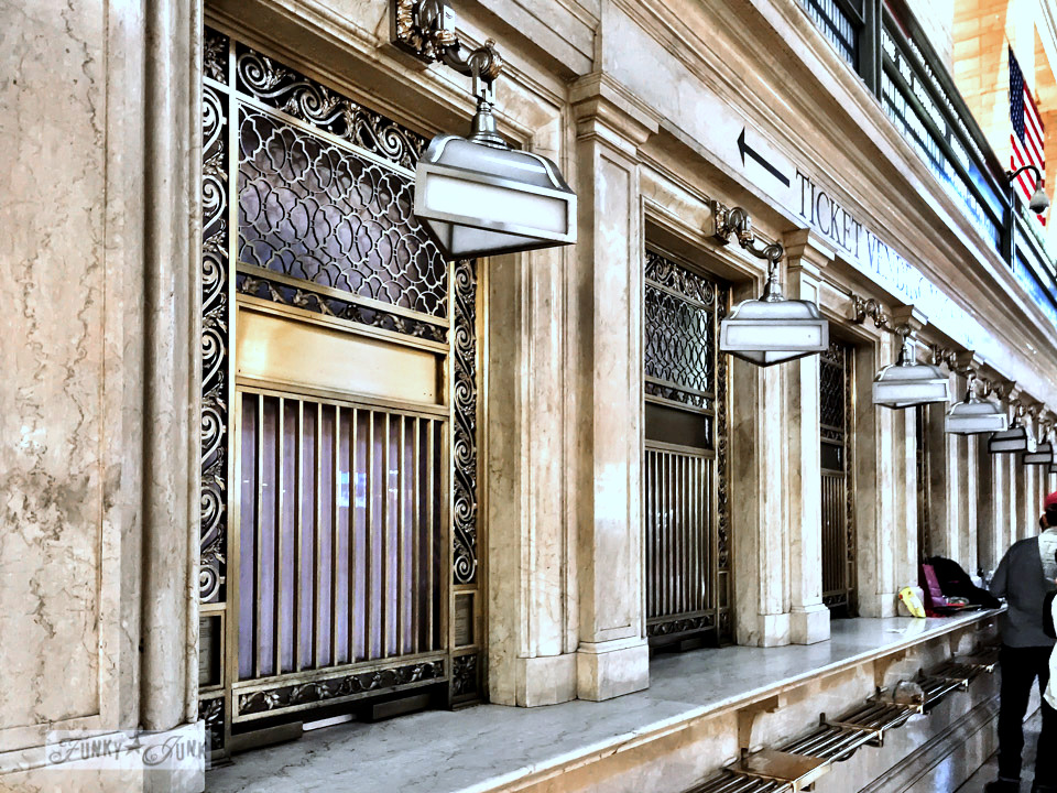 Teller booths at Grand Central Station in New York City / funkyjunkinteriors.net