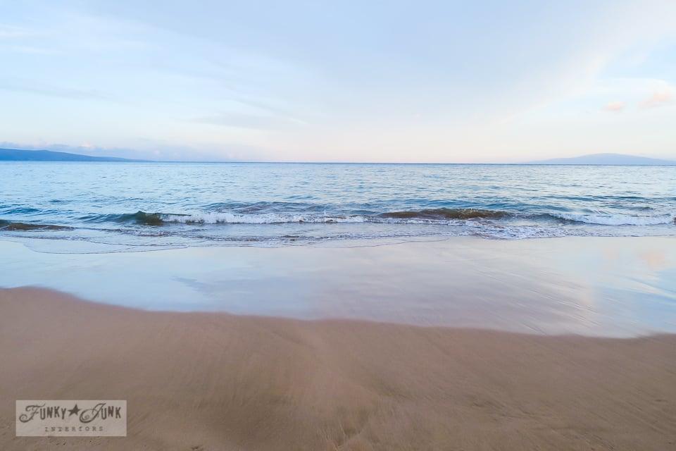 Kamaole Beach 2 during sunrise in Kihei, Maui | funkyjunkinteriors.net