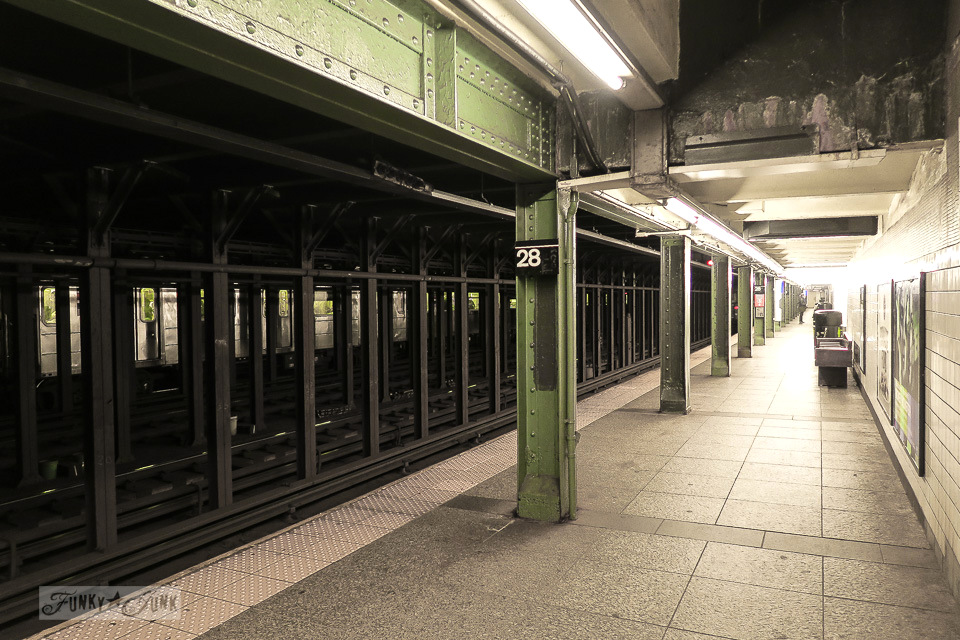 Times Square subway station in New York City / funkyjunkinteriors.net