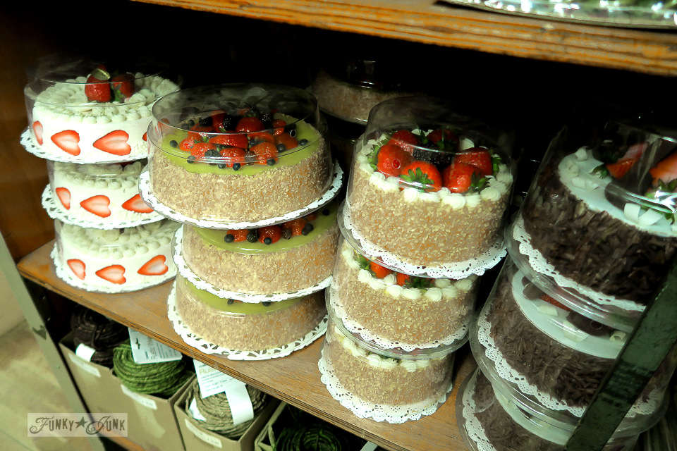 Faux cake photography props from The Flower District in Chelsea, New York City / funkyjunkinteriors.net