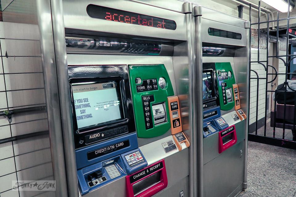 Subway station pay machines, in Chelsea, New York City / funkyjunkinteriors.net