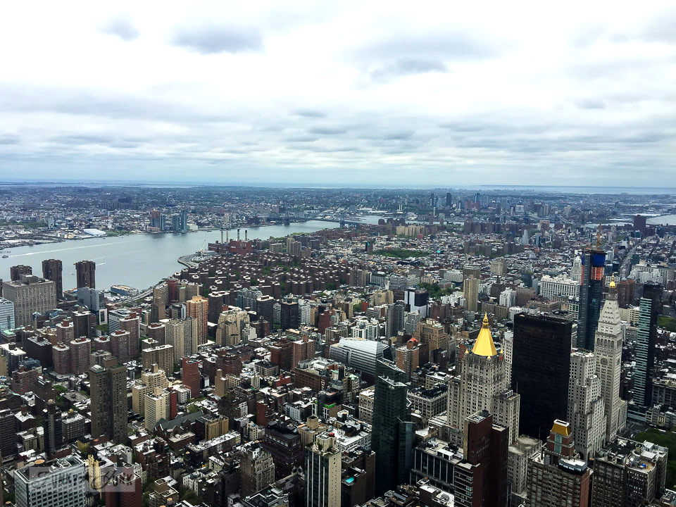 New York City view from the Empire State Building / funkyjunkinteriors.net