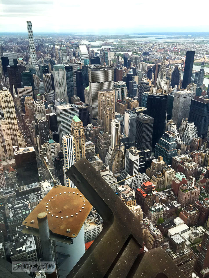 City view from the 2nd deck of the Empire State Building in New York City / funkyjunkinteriors.net