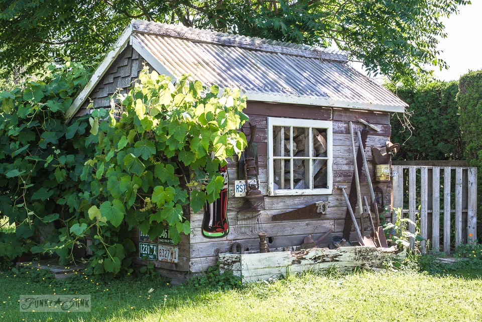 the rustic shed in need of a new look