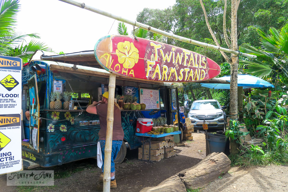 Farm Stand at Twin Falls, Maui | funkyjunkinteriors.net