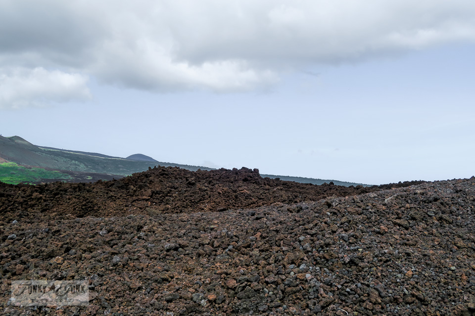 Driving through the lava fields beyond Kikei in Maui | funkyjunkinteriors