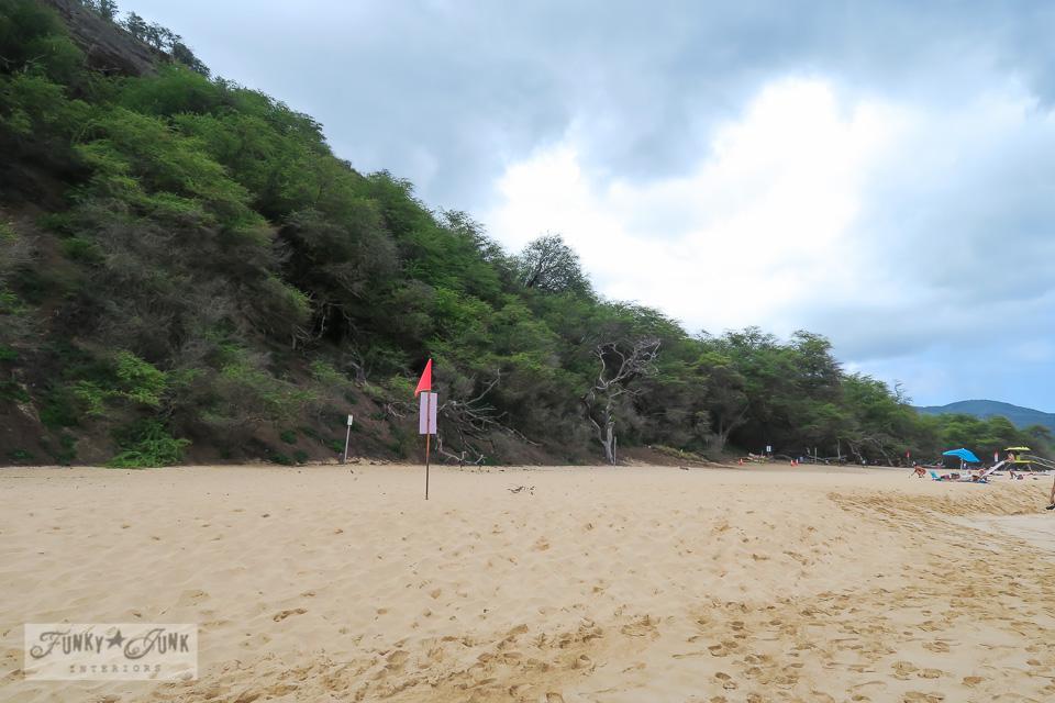 The mountain range behind Makena's Big Beach in Maui, Hawaii | funkyjunkinteriors