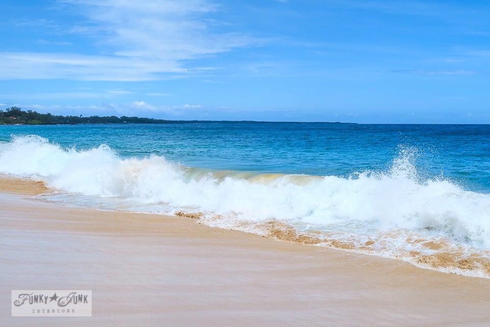 The waves at Makena's Big Beach in Maui, Hawaii | funkyjunkinteriors