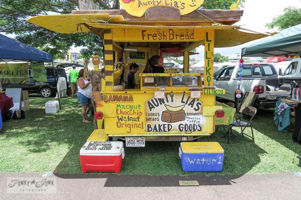Maui Swap Meet - Auntie Lia's booth | funkjunkinteriors.net
