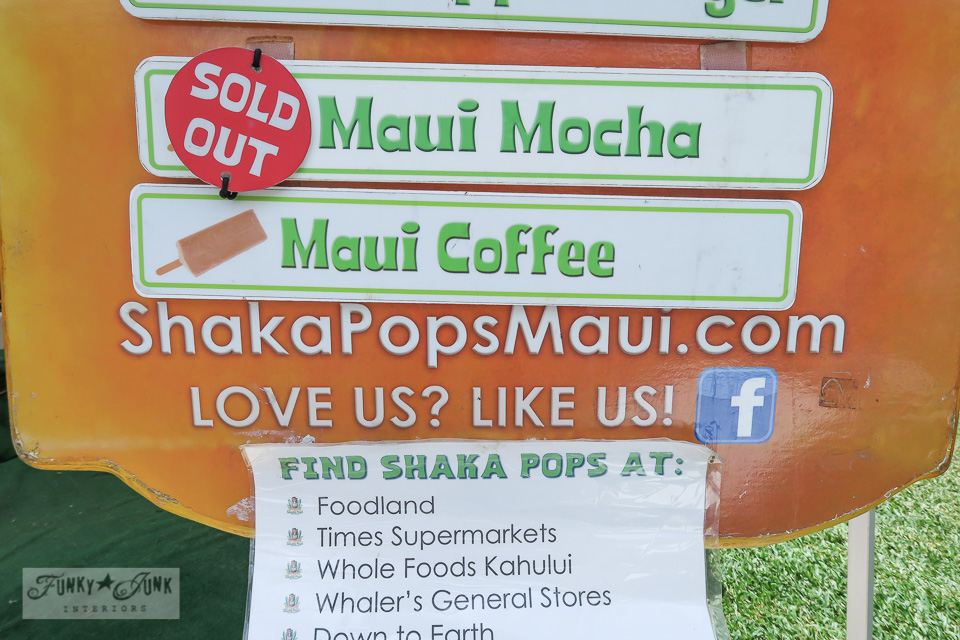 Maui Swap Meet - Shaka Pops, Maui made handmade popsicles... delish! | funkyjunkinteriors.net