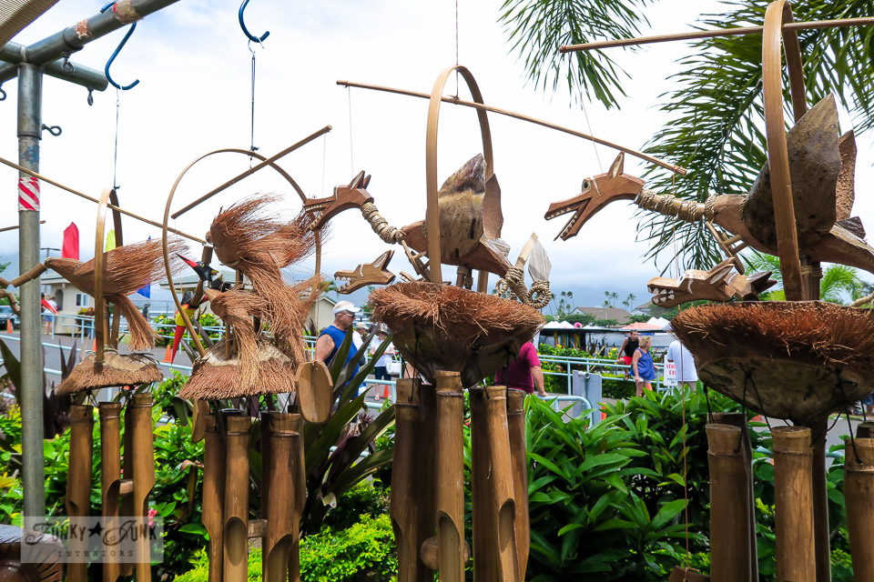 Maui Swap Meet - unusual wind chimes | funkyjunkinteriors.net