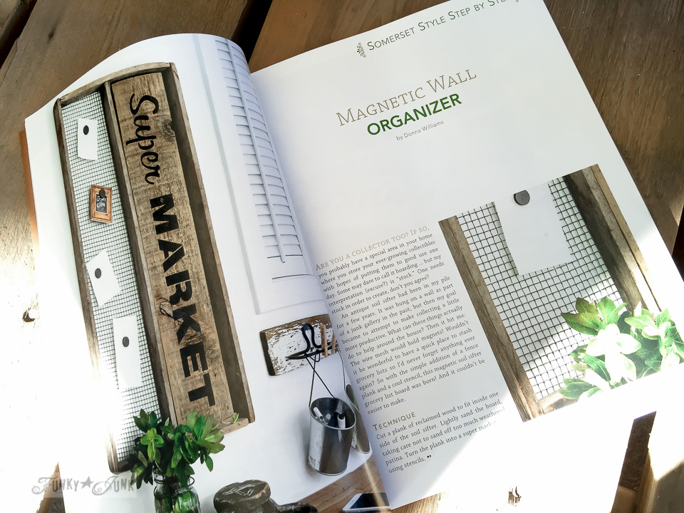Super Market magnetic wall organizer | Funky Junk Interiors in Somerset Home Magazine 2016 | funkyjunkinteriors.net