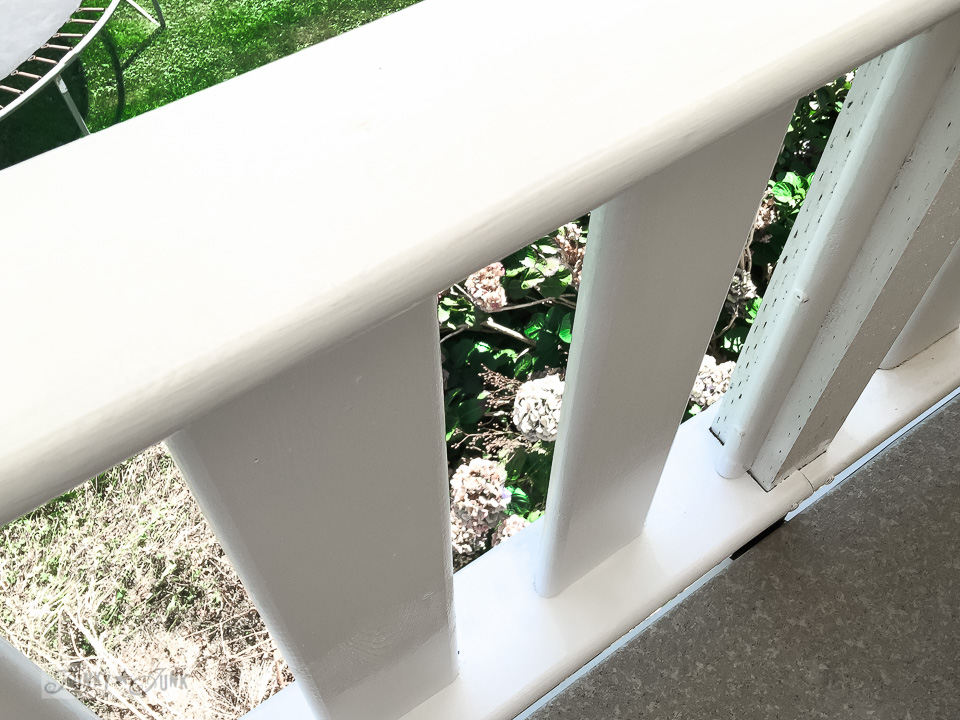 painting white patio trim | funkyjunkinteriors.net