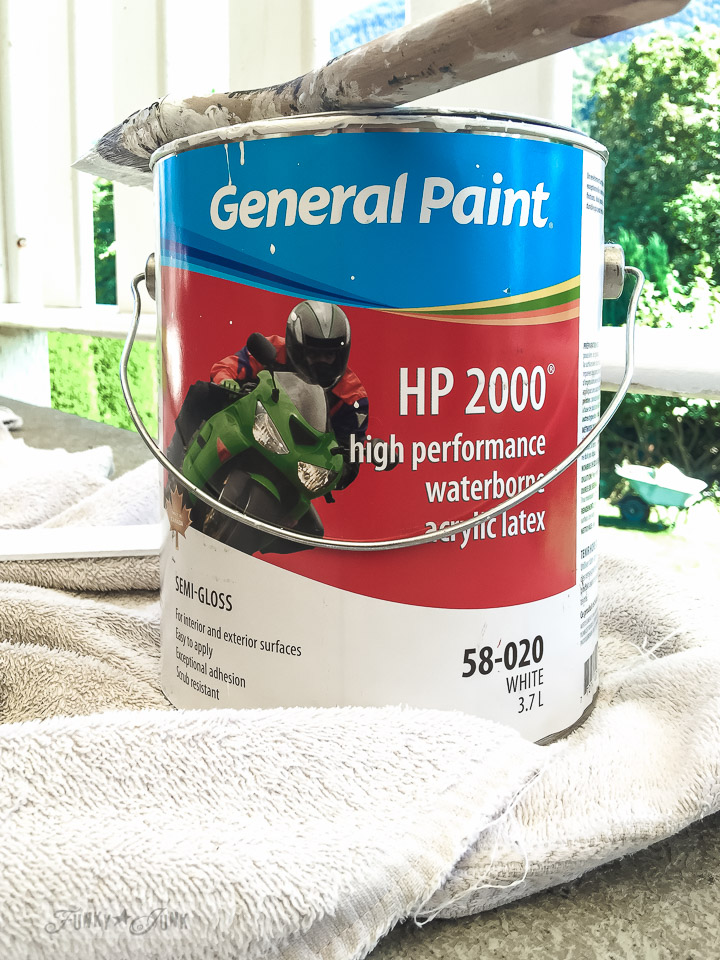 painting patio trim with General Paint HP 2000 | funkyjunkinteriors.net