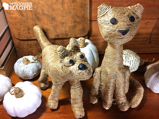 Twine wrapped pets, by Wisconsin Magpie, featured on Funky Junk Interiors
