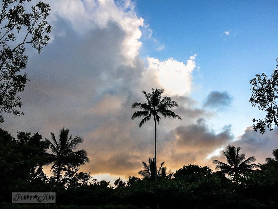Sunset from the Sea Lodge condo, in Kauai | funkyjunkinteriors.net