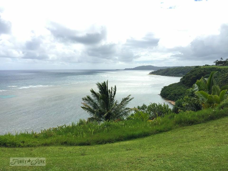 Ocean view from Sea Lodge condo, on Kauai | funkyjunkinteriors.net