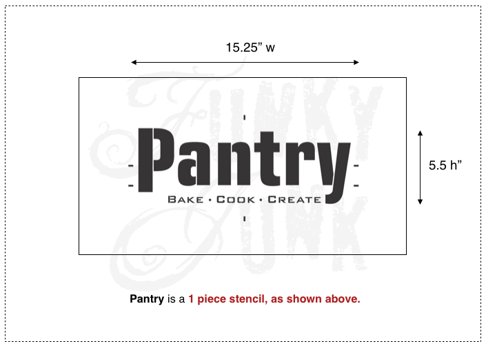 Pantry | from Funky Junk's Old Sign Stencils collection | funkyjunkinteriors.net
