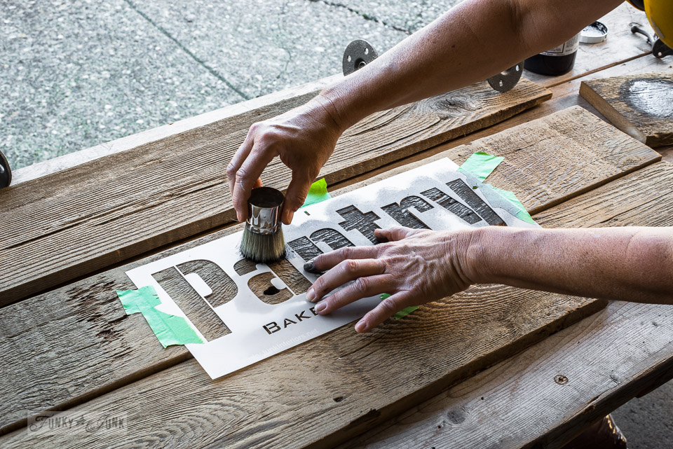 How to stencil tips featuring Funky Junk's Old Sign Stencils