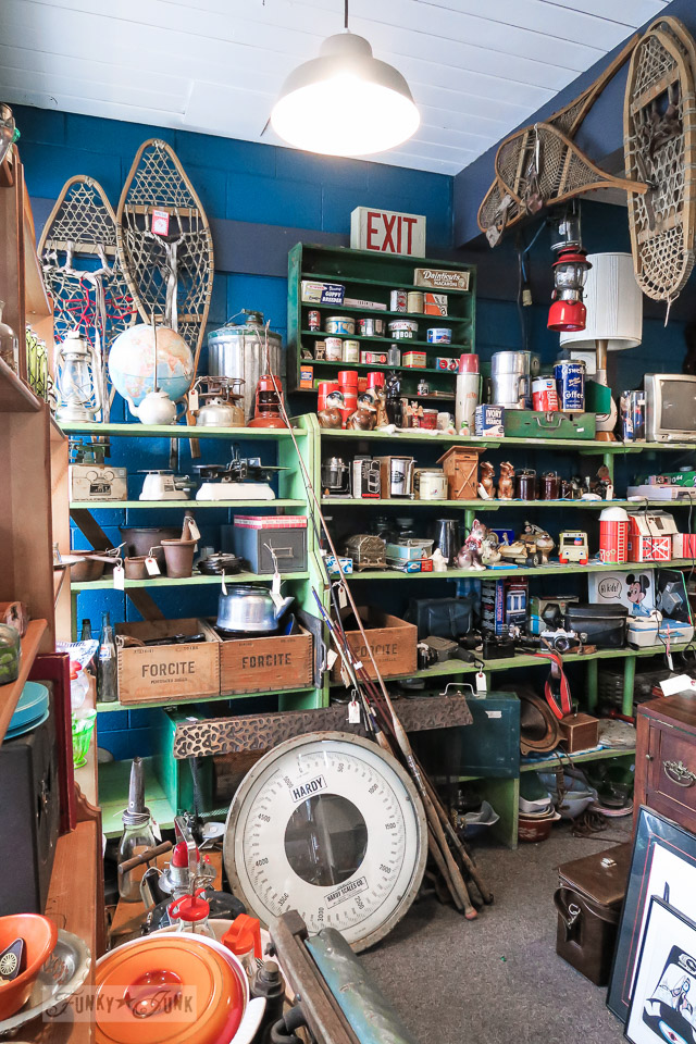 Inside Atomic Cat Antiques and Vintage, in Hope, British Columbia, Canada | funkyjunkinteriors.net