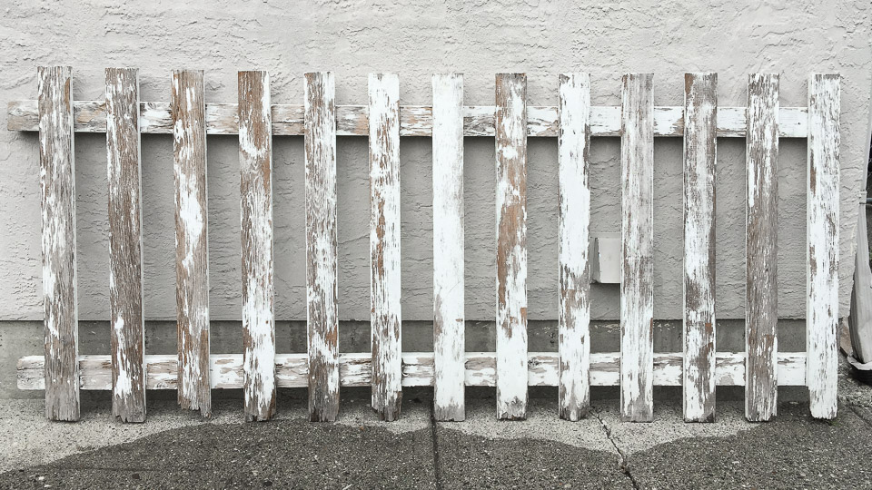 Chippy white fence section | funkyjunkinteriors.net