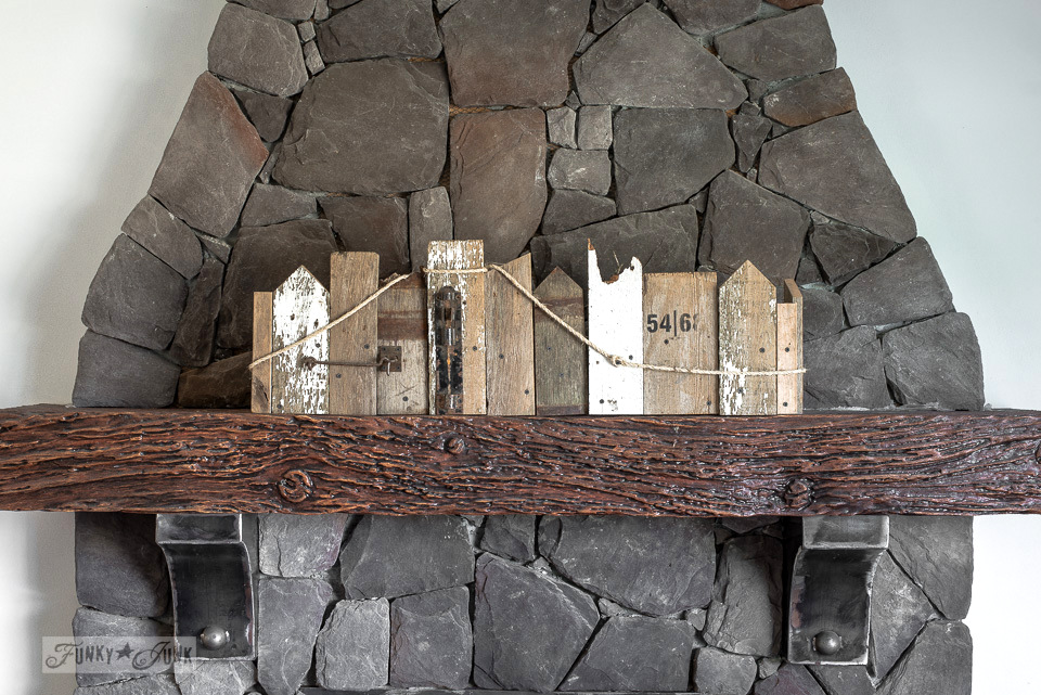 reclaimed scrap wood window box for a mantel | funkyjunkinteriors.net