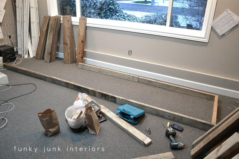 reclaimed pallet wood farm table office desk frame   funkyjunkinteriors.net