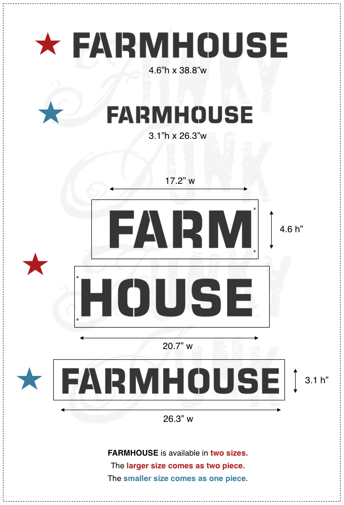 FARMHOUSE - Funky Junk's Old Sign Stencils | funkyjunkinteriors.net