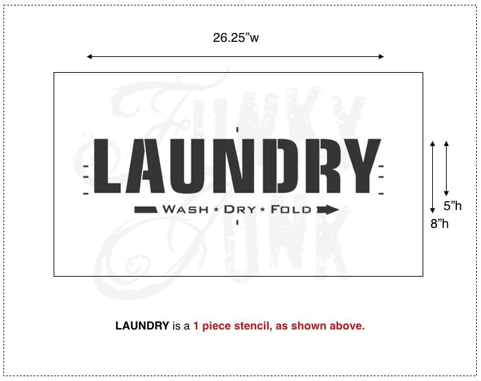 Laundry | Funky Junk's Old Sign Stencils | funkyjunkinteriors.net