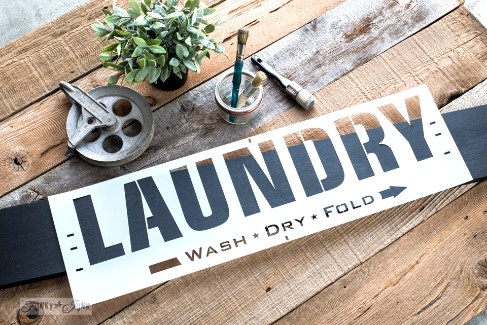 Laundry| Funky Junk's Old Sign Stencils
