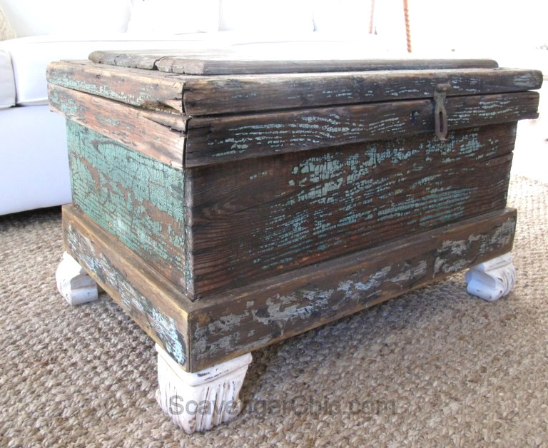 How to revamp a termite infested trunk, by Scavenger Chic, featured on Funky Junk Interiors