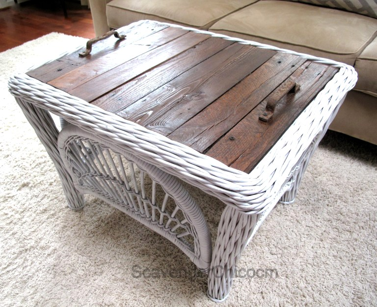 Coffee table tray top, by Scavenger Chic, featured on Funky Junk Interiors