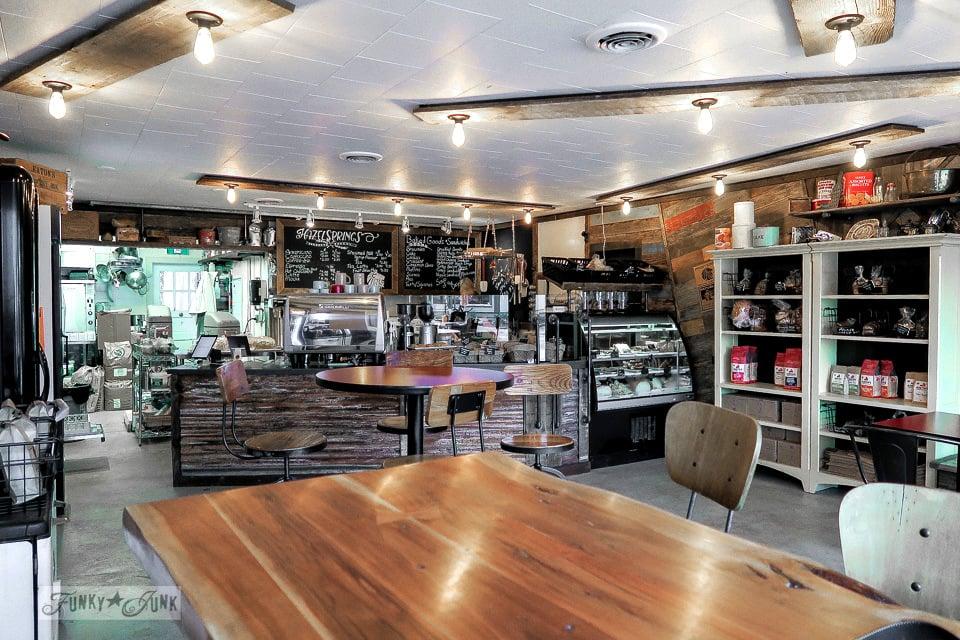 Hazelsprings Organic Bakery, an industrial coffee shop in Chilliwack, BC Canada | funkyjunkinteriors.net