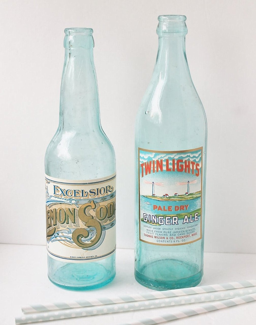 How to marry vintage bottles with new antique labels, by Adirondack Girl at Heart, featured on Funky Junk Interiors