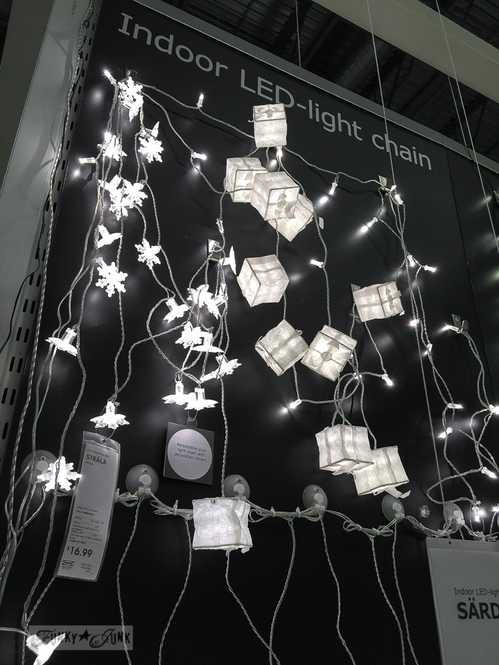 LED white Christmas lights at Ikea | funkyjunkinteriors.net