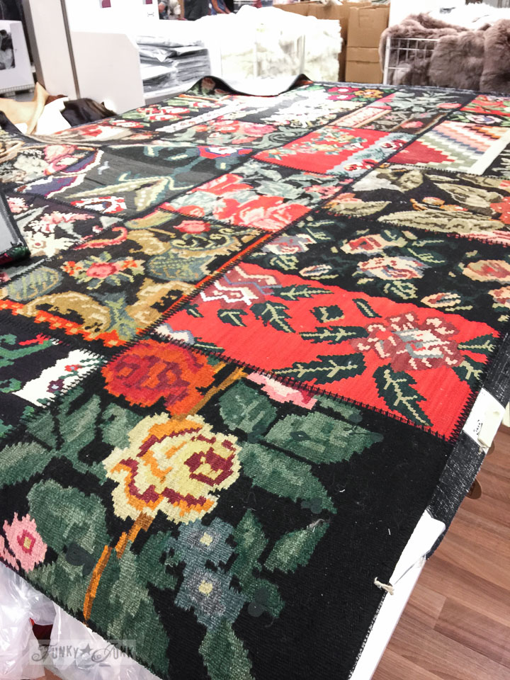 Tapestry floral patchwork quilt carpet, at Ikea | funkyjunkinteriors.net