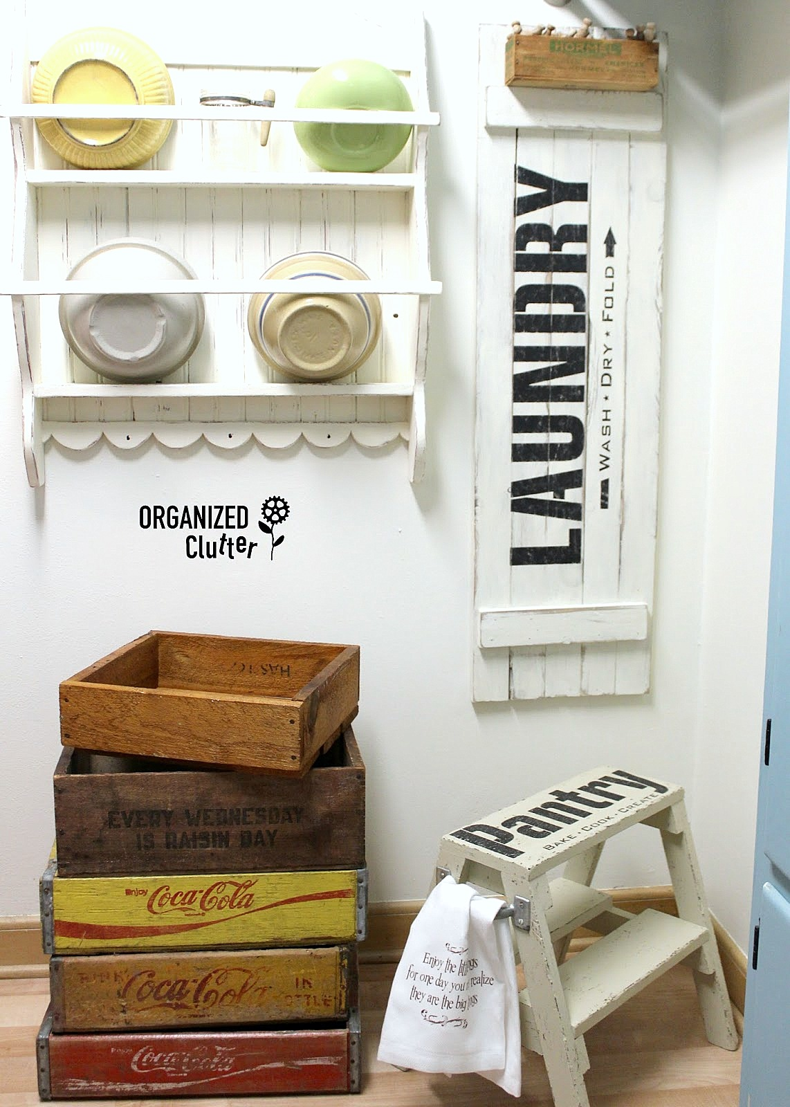 Vintage Pantry stool, by Organized Clutter, featured on Funky Junk Interiors