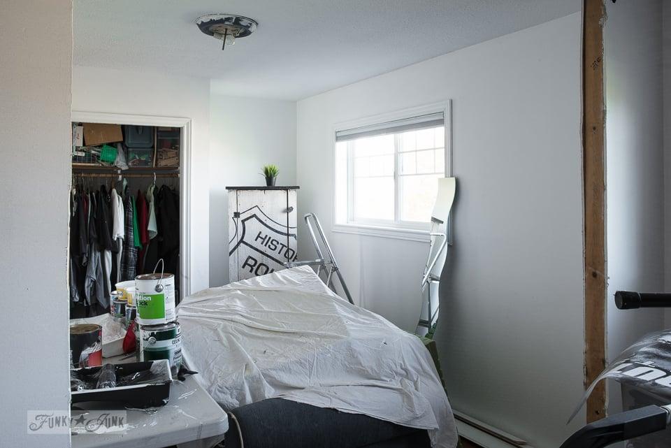 boy's bedroom progress - white walls