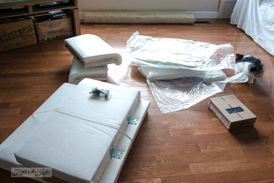 Assembling an Ikea Stocksund chair. An easy assembly, and super comfy! funkyjunkinteriors.net