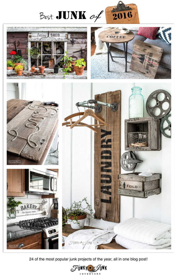 24 of the Best Junk Projects of 2016! funkyjunkinteriors.net