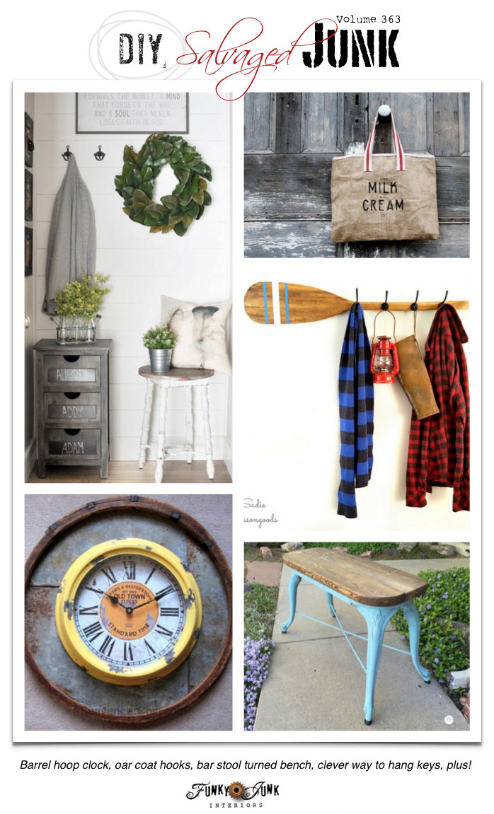 DIY Salvaged Junk Project 363 - repurposed tutorials plus features on funkyjunkinteriors.net