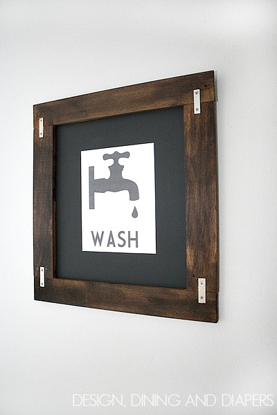 Industrial frame on a cool printable, by Design, Dining and Diapers, featured on Funky Junk Interiors
