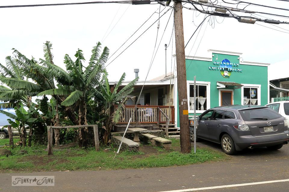 Finding Grandma's Coffee House along the back roads to Hana in Maui | funkyjunkinteriors.net