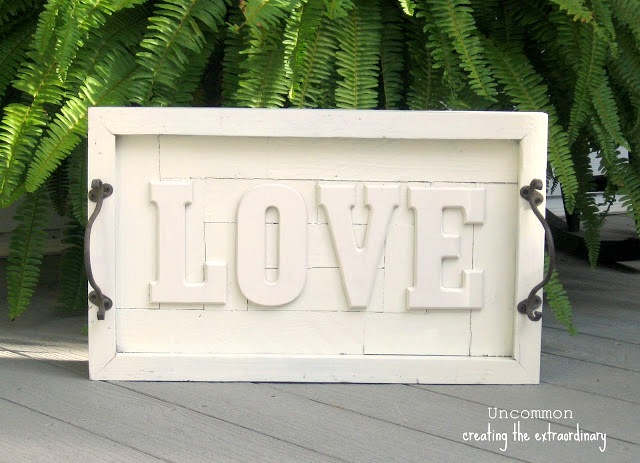 Love message tray, by Uncommon Designs, featured on Funky Junk Interiors