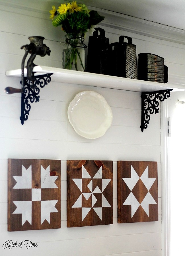 DIY barn quilt wall art, by Knick of Time, featured on Funky Junk Interiors