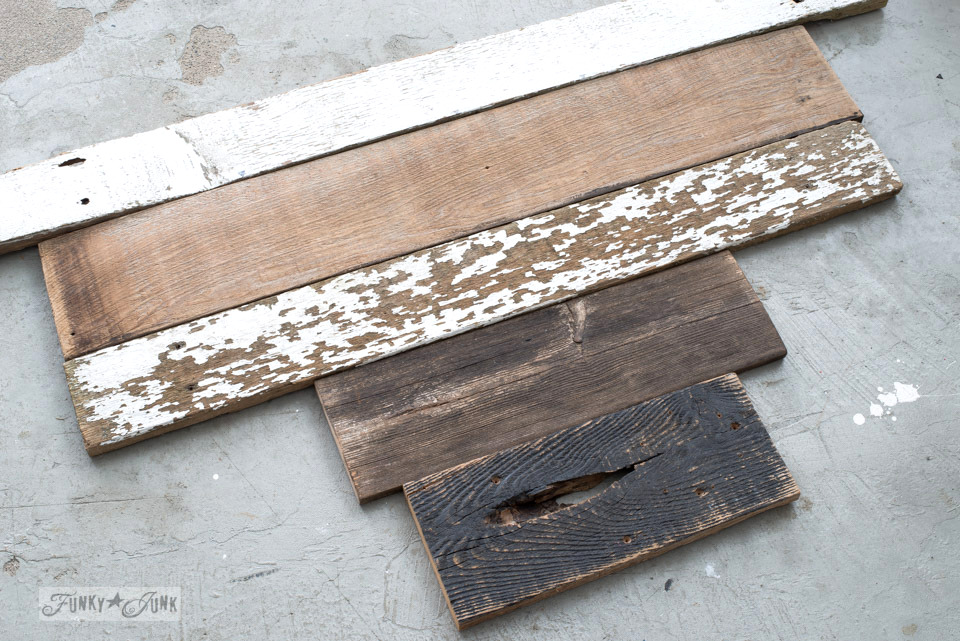 Piecing together the wood | 3 ways to use a reclaimed wood junk salvaged junk heart! Perfect for Valentine's Day, or all season. | funkyjunkinteriors.net