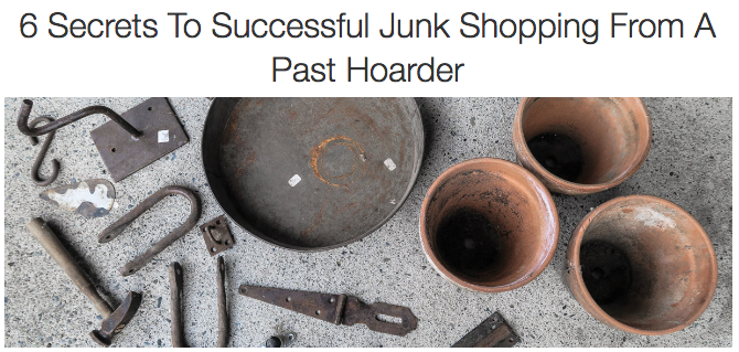 6 secrets to successful junk shopping from a past hoarder, by Funky Junk Interiors for eBay