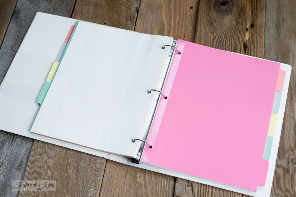 How to make a cheap & easy day planner from standard office supplies | funkyjunkinteriors.net