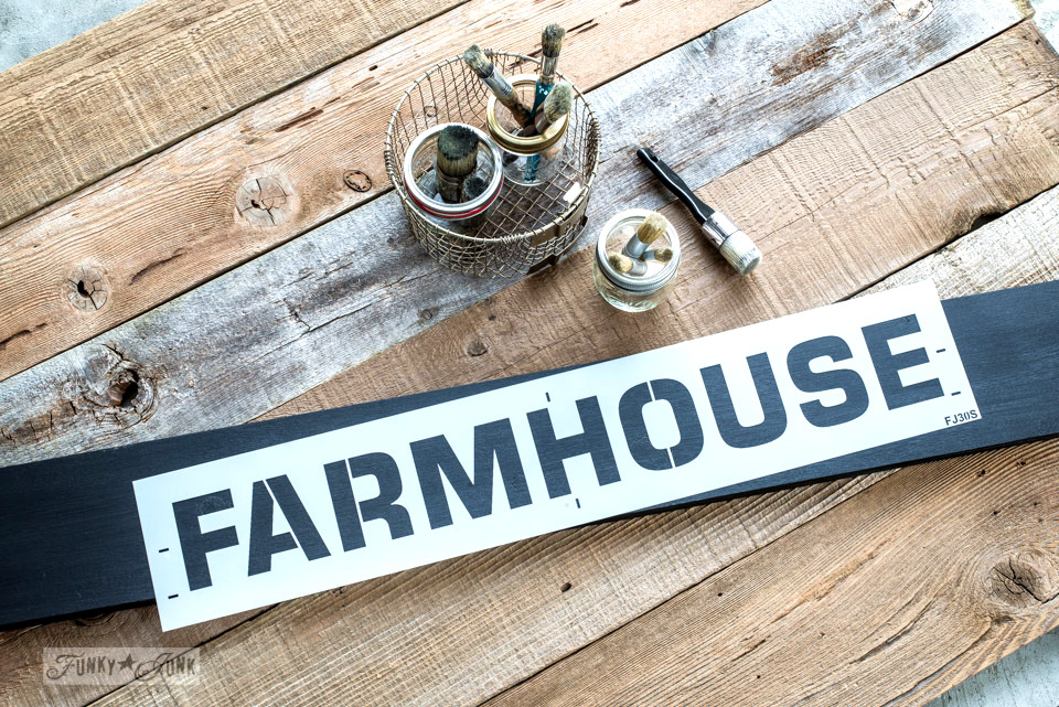 Farmhouse-small stencil | Funky Junk's Old Sign Stencils product shots-005